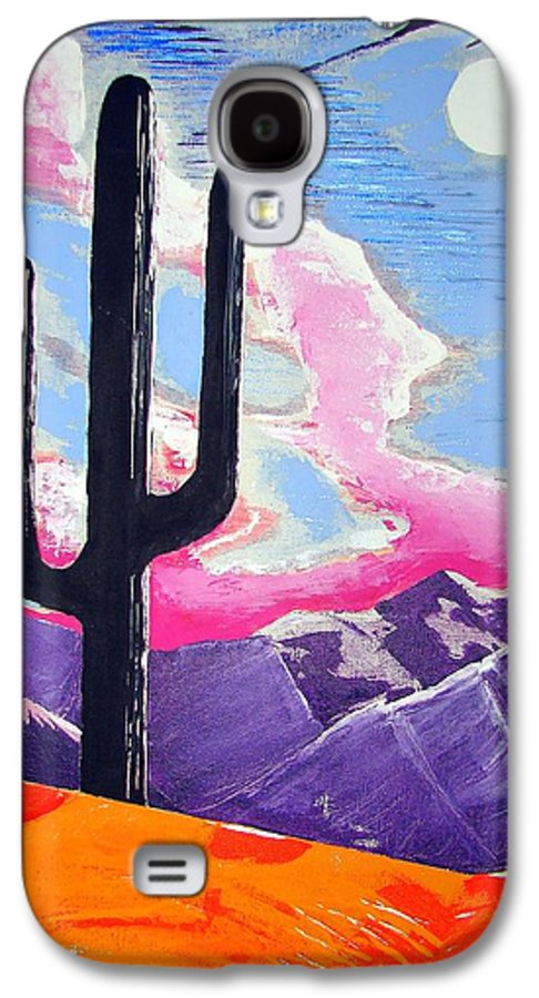 Cactus Galaxy S4 Case featuring the painting Southwest Skies 2 by J R Seymour