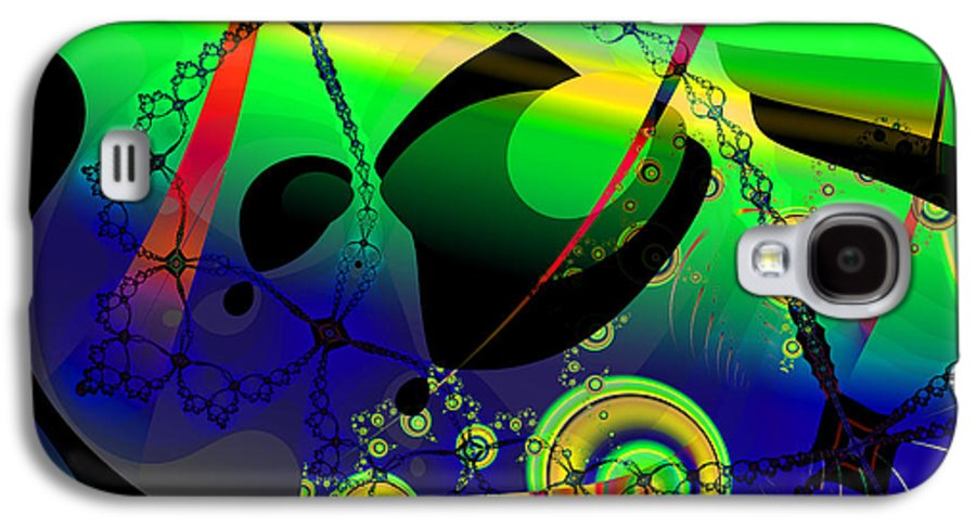 Fractal Galaxy S4 Case featuring the digital art Space Carnival by Frederic Durville