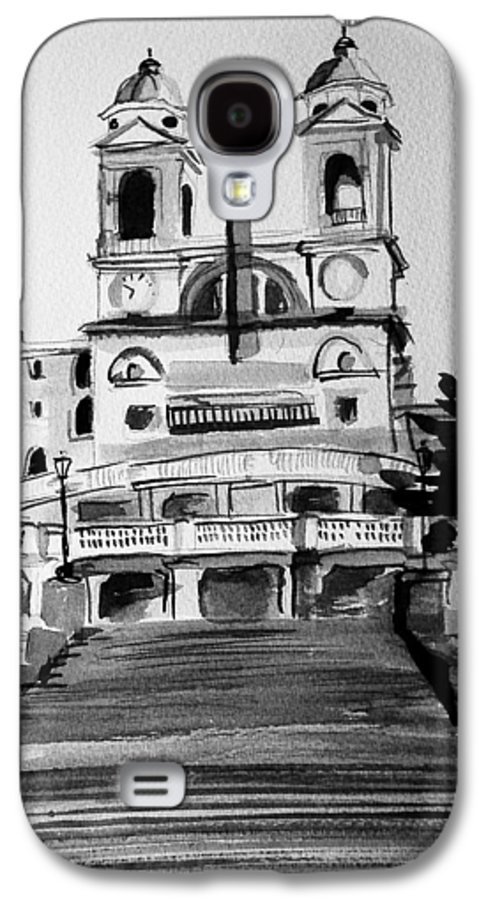 Ink Galaxy S4 Case featuring the painting Spanish Steps by Laura Rispoli