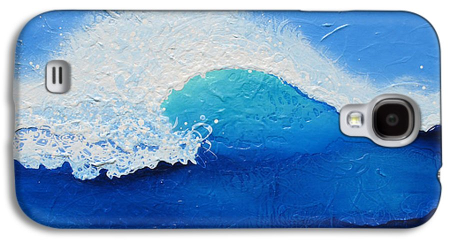 Contemporary Galaxy S4 Case featuring the painting Spiral Wave by Jaison Cianelli