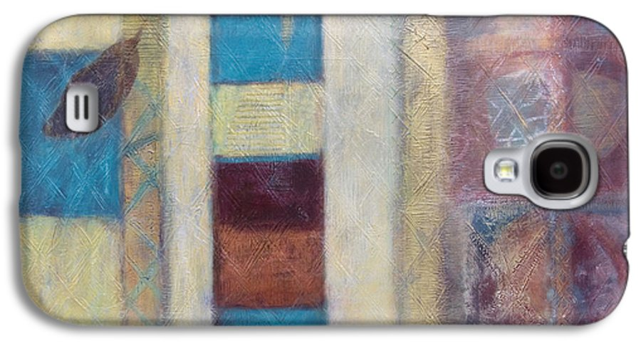 Spiritual Galaxy S4 Case featuring the painting Spirit Of Gold - States Of Being by Kerryn Madsen- Pietsch