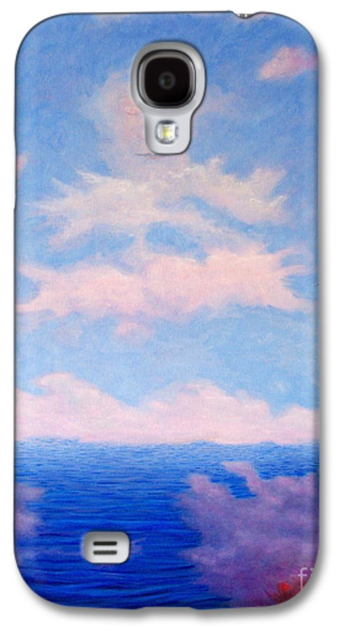 Buddha Galaxy S4 Case featuring the painting Spirit Of The Lake by Brian Commerford