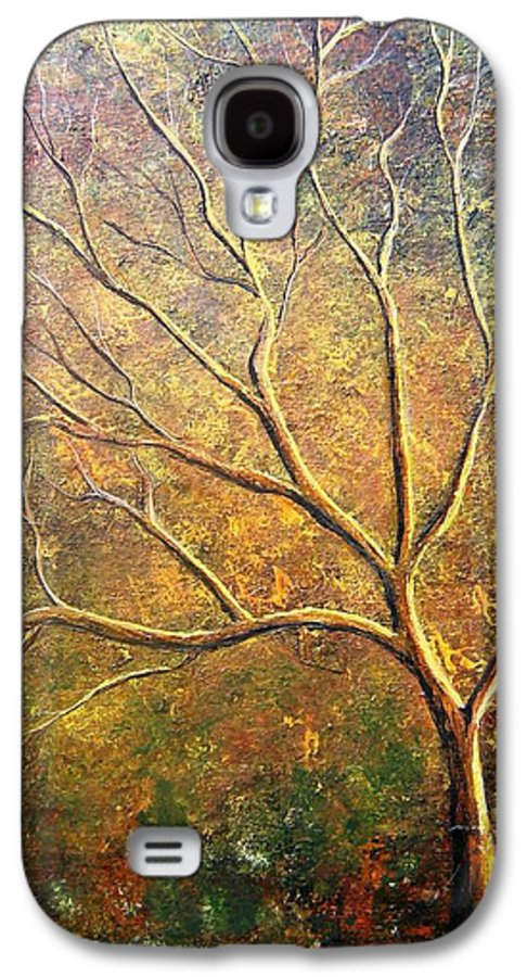 Galaxy S4 Case featuring the painting Spirit Tree 5 by Tami Booher