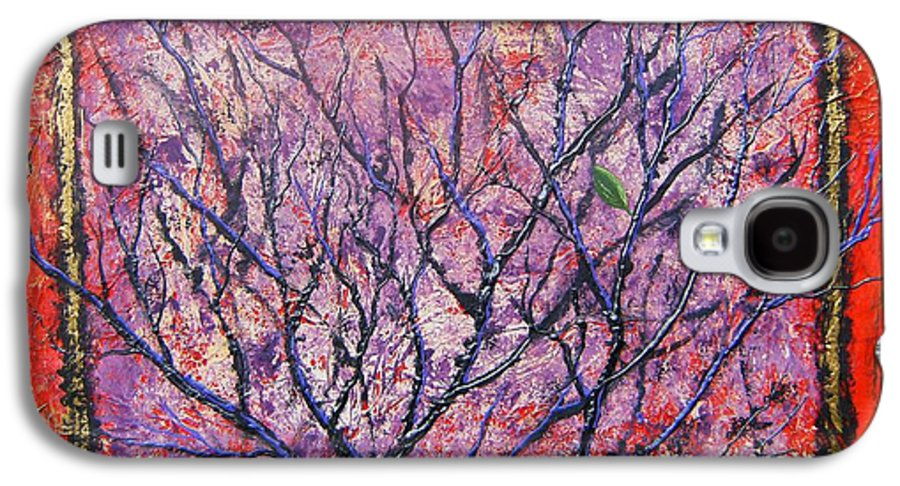 Nature Galaxy S4 Case featuring the painting Spirit Tree 6 by Tami Booher