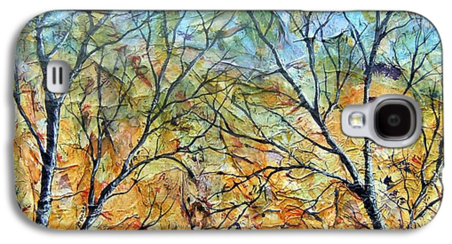 Galaxy S4 Case featuring the painting Spirit Trees 7 by Tami Booher
