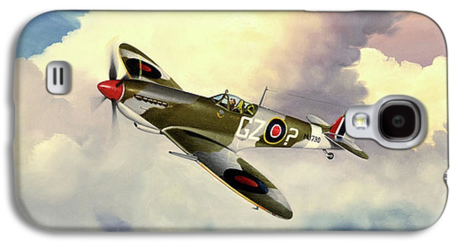 Military Galaxy S4 Case featuring the painting Spitfire by Marc Stewart