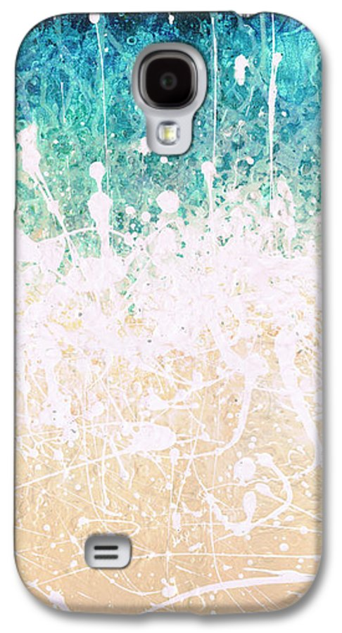 Abstract Galaxy S4 Case featuring the painting Splash by Jaison Cianelli