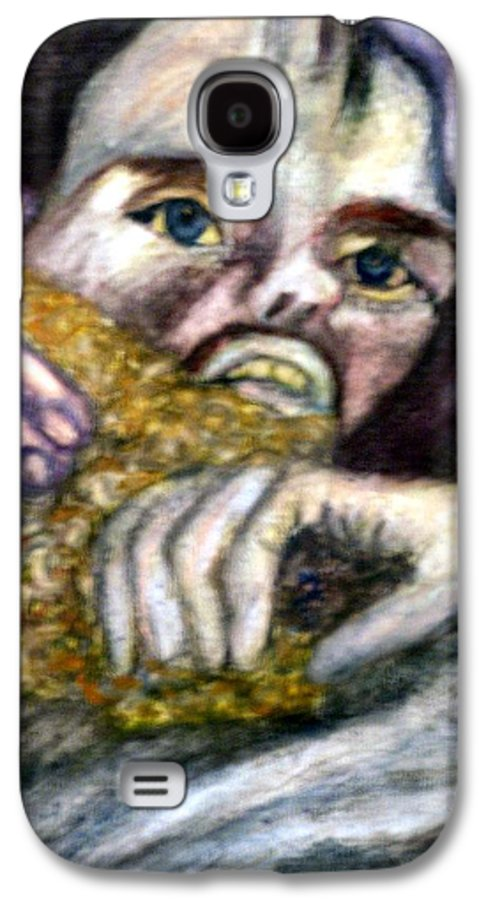 Spiritual Portrait Galaxy S4 Case featuring the painting Sponge Christ Your Eyes by Stephen Mead