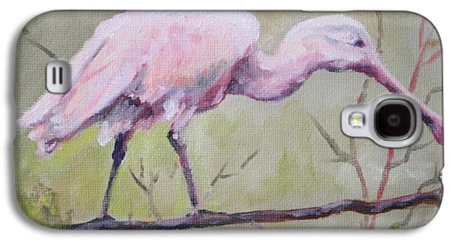 Bird Galaxy S4 Case featuring the painting Spoonbill by Carol Mueller