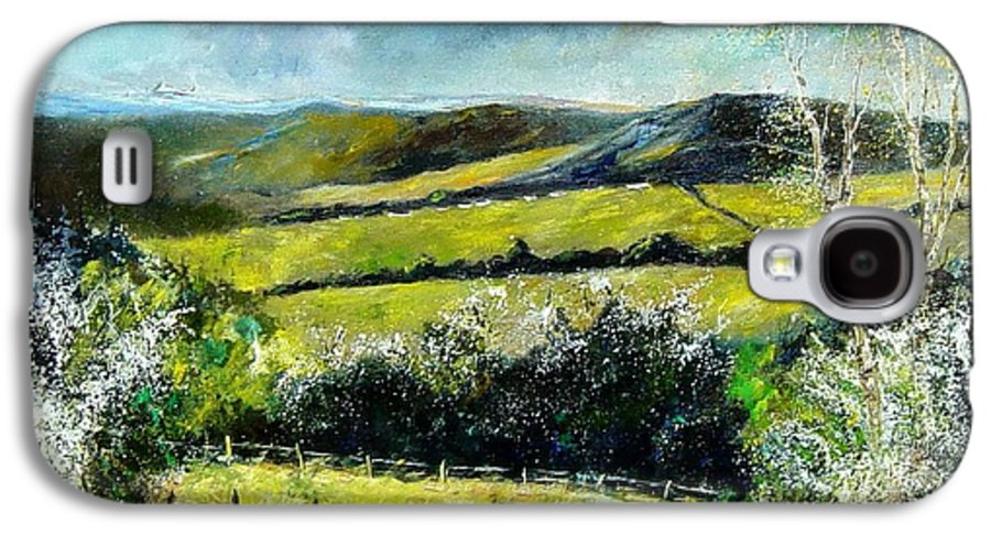 Landscape Galaxy S4 Case featuring the print Spring 79 by Pol Ledent