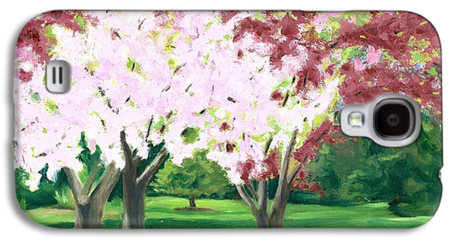 Spring Galaxy S4 Case featuring the painting Spring At Osage Land Trust by Paula Emery