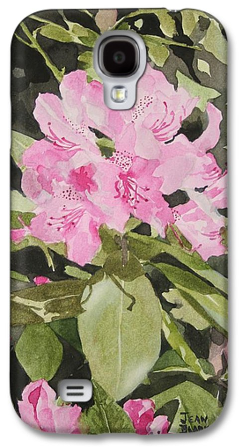 Flowers Galaxy S4 Case featuring the painting Spring At The Cabin by Jean Blackmer