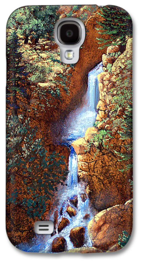 Wilderness Galaxy S4 Case featuring the painting Spring Cascade by Frank Wilson