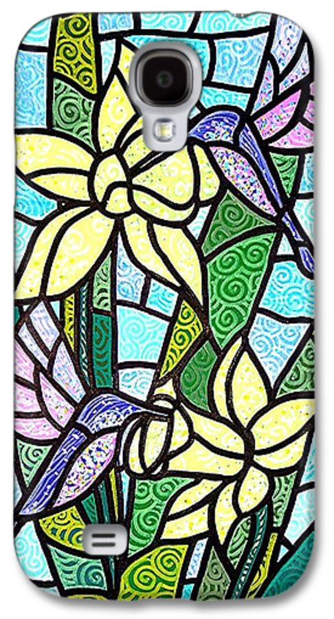 Flowers Galaxy S4 Case featuring the painting Spring Fling by Jim Harris