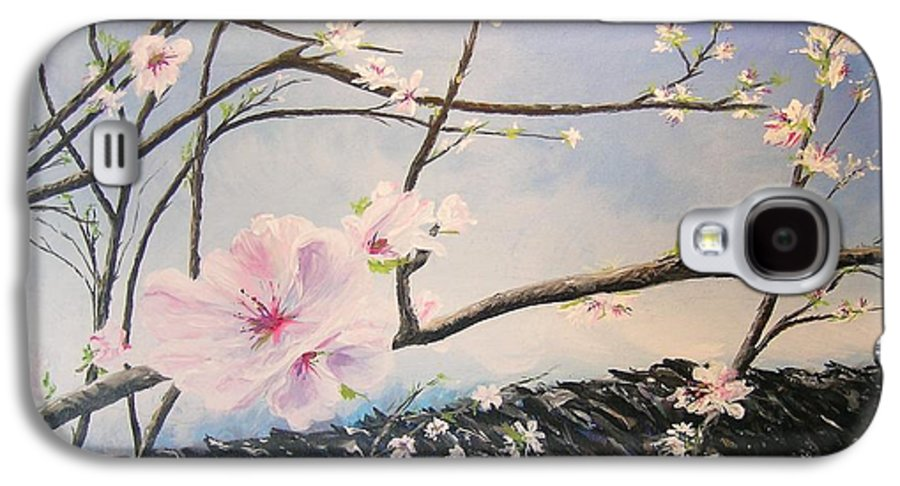 Flower Galaxy S4 Case featuring the painting Spring Is In The Air by Lizzy Forrester
