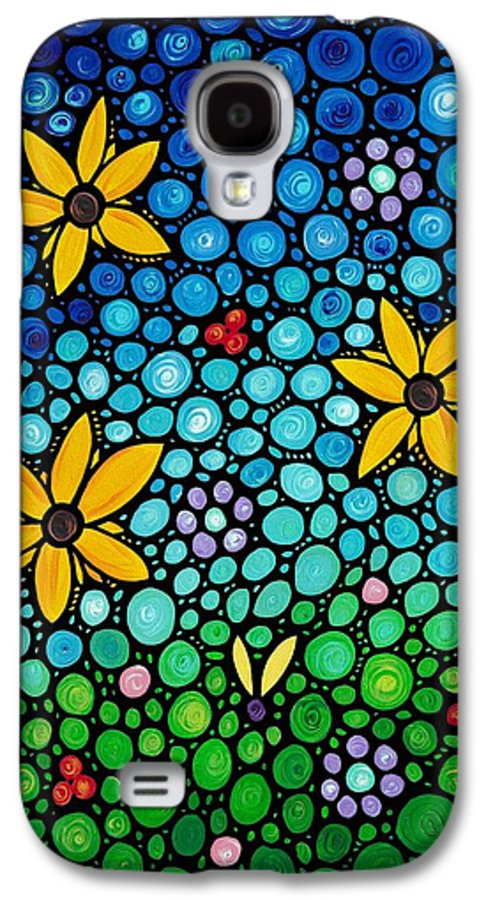 Floral Galaxy S4 Case featuring the painting Spring Maidens by Sharon Cummings