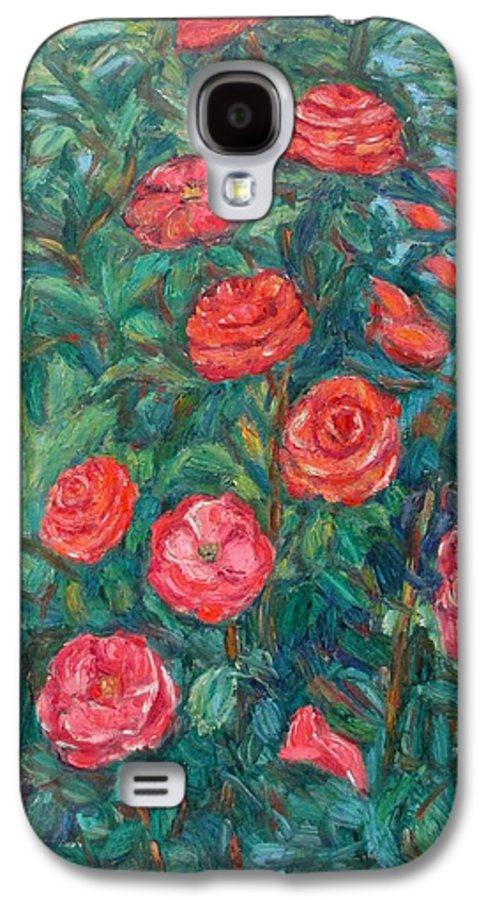 Rose Galaxy S4 Case featuring the painting Spring Roses by Kendall Kessler