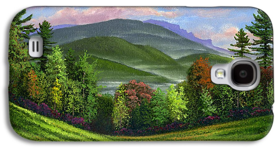 Landscape Galaxy S4 Case featuring the painting Spring Time by Frank Wilson