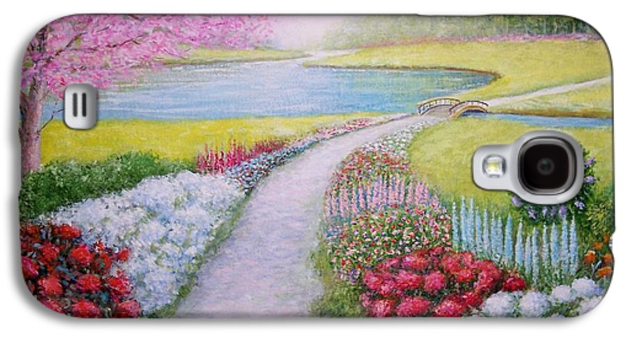 Landscape Galaxy S4 Case featuring the painting Spring by William H RaVell III