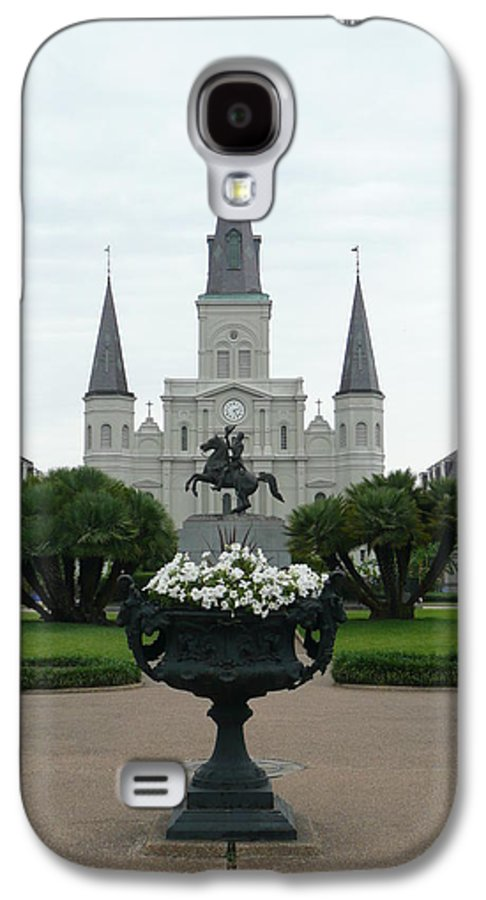 New Orleans Galaxy S4 Case featuring the photograph St. Louis Cathedral New Orleans by Kathy Schumann