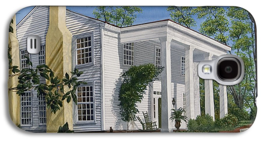 Landscape Galaxy S4 Case featuring the painting Stagecoach Inn Madison Georgia by Peter Muzyka