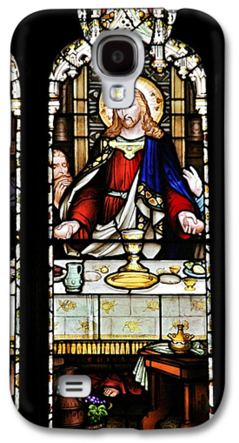 Stained Galaxy S4 Case featuring the photograph Stained Glass Window Last Supper Saint Giles Cathedral Edinburgh Scotland by Christine Till