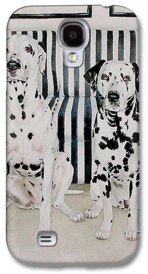 Portrait Galaxy S4 Case featuring the painting Stanley And Stelle by Eileen Hale
