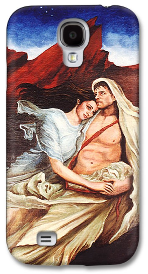 Portrait Galaxy S4 Case featuring the painting Star Crossed Lovers by Teresa Carter