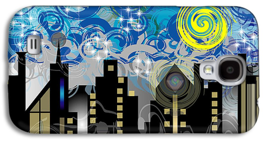 Jazz Galaxy S4 Case featuring the digital art Starry Night by George Pasini