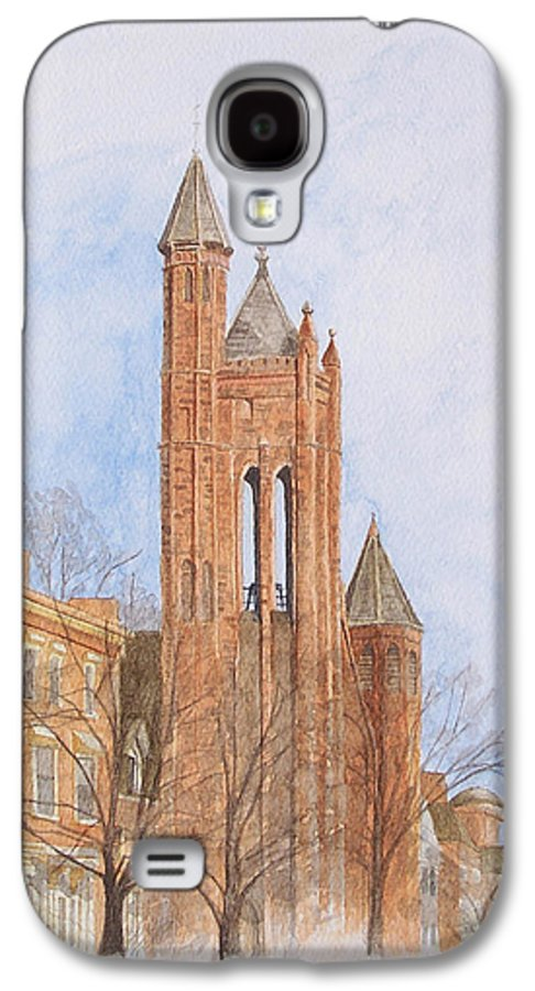 Gothic Galaxy S4 Case featuring the painting State Street Church by Dominic White