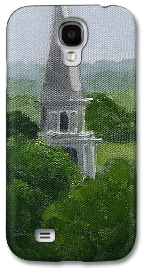 Steeple Galaxy S4 Case featuring the painting Steeple by Toni Berry