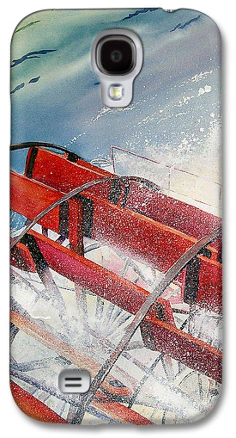 Paddlewheeler Galaxy S4 Case featuring the painting Sternwheeler Splash by Karen Stark