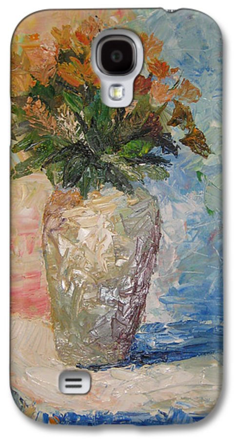 Still Life Vase Flowers Galaxy S4 Case featuring the painting Still Life Flowers by Maria Kobalyan