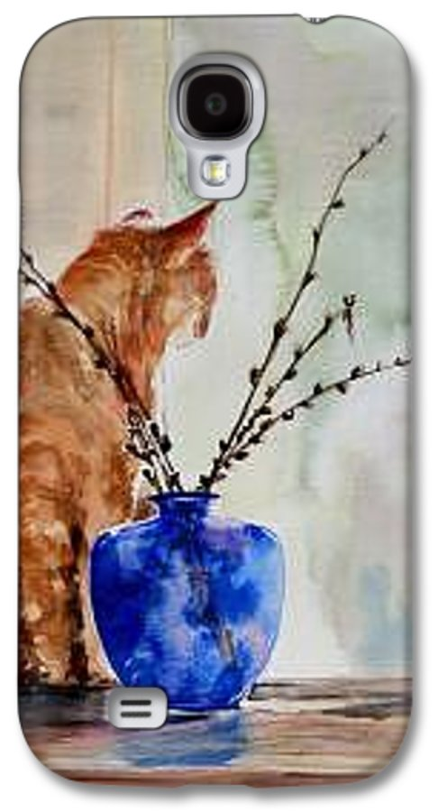 Cat Galaxy S4 Case featuring the painting Still Life by Lynee Sapere