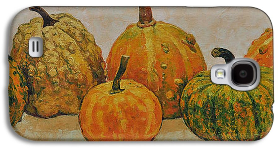 Still Life Galaxy S4 Case featuring the painting Still Life With Pumpkins by Iliyan Bozhanov