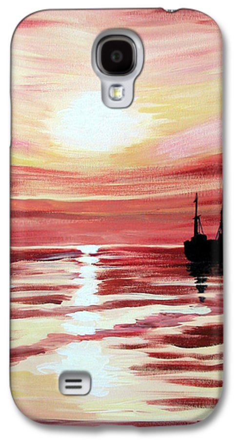 Seascape Galaxy S4 Case featuring the painting Still Waters Run Deep by Marco Morales