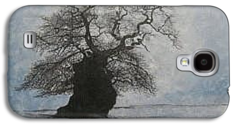 Silhouette Galaxy S4 Case featuring the painting Stilton Silhouette by Leah Tomaino