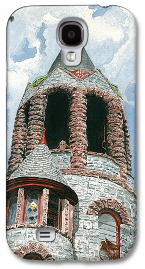 Church Galaxy S4 Case featuring the painting Stone Church Bell Tower by Dominic White