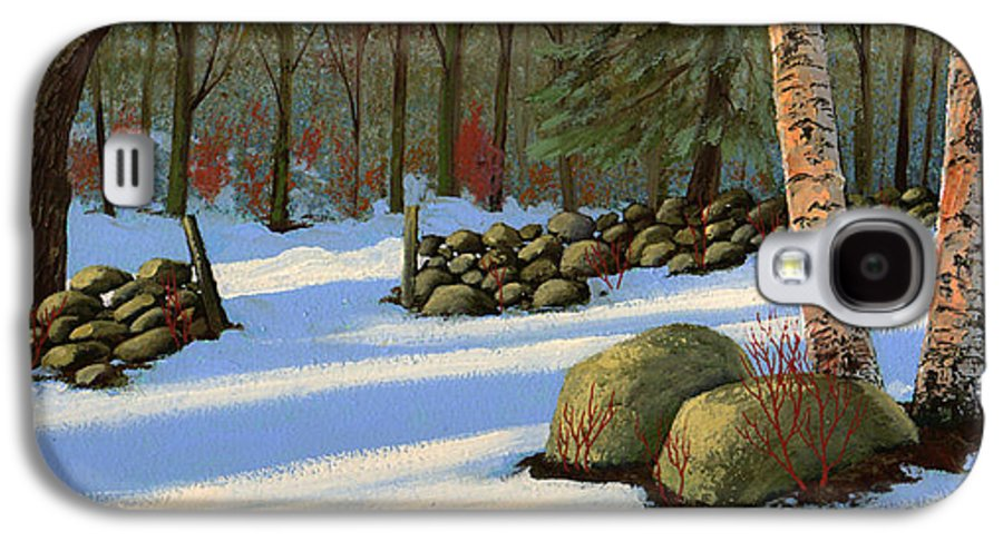 Landscape Galaxy S4 Case featuring the painting Stone Wall Gateway by Frank Wilson