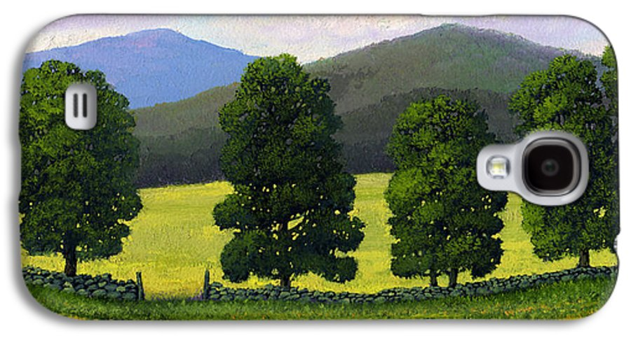 Landscape Galaxy S4 Case featuring the painting Stonewall Field by Frank Wilson