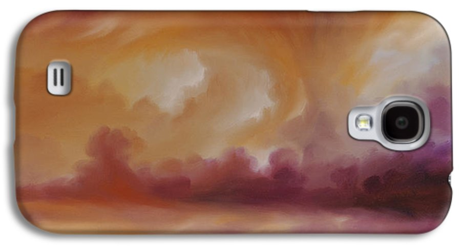 Tempest Galaxy S4 Case featuring the painting Storm Clouds 2 by James Christopher Hill