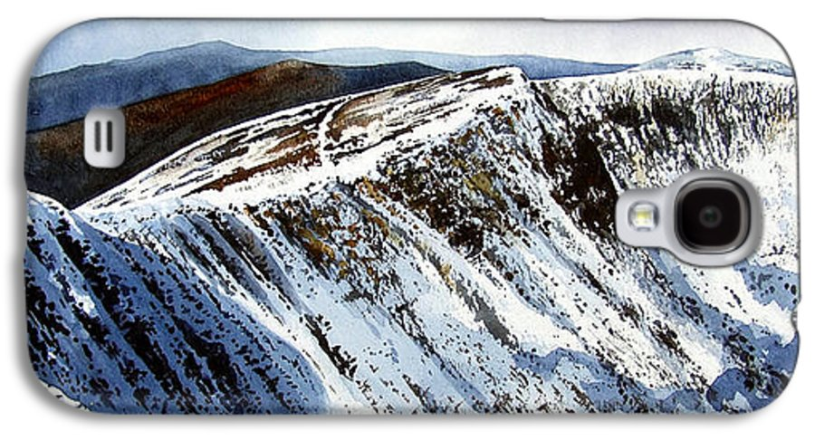 Helvellin Galaxy S4 Case featuring the painting Striding Edge Leading To Helvellin Sumit by Paul Dene Marlor