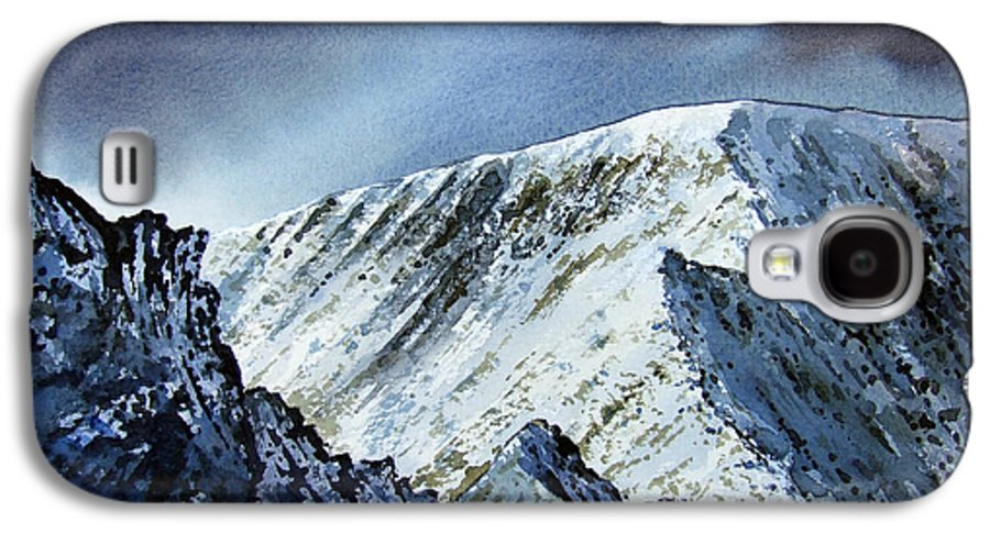 Mountain Galaxy S4 Case featuring the painting Striding Edge On Helvellin by Paul Dene Marlor