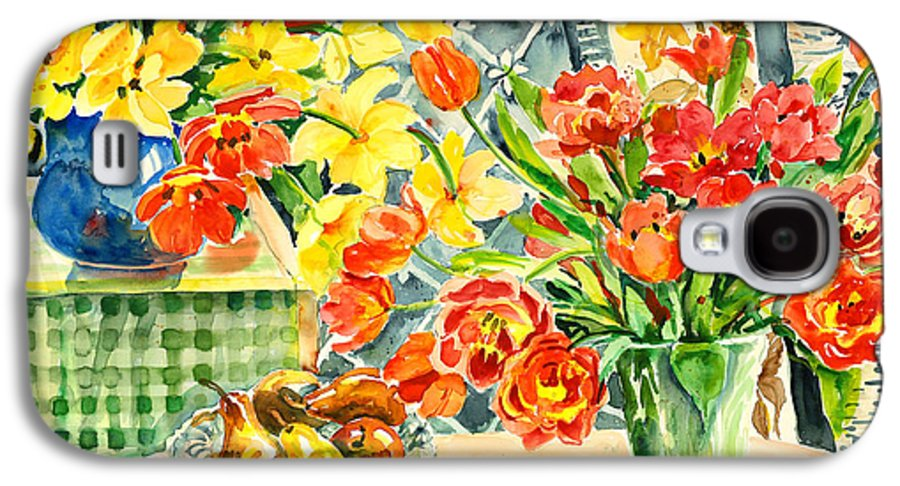 Watercolor Galaxy S4 Case featuring the painting Studio Still Life by Ingrid Dohm