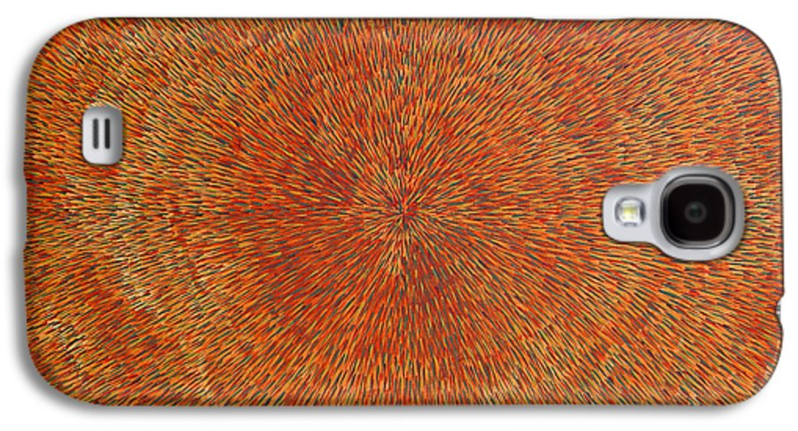 Abstract Galaxy S4 Case featuring the painting Su Gaia Earth by Dean Triolo