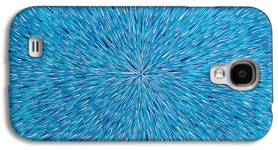 Abstract Galaxy S4 Case featuring the painting Su Gaia Rain by Dean Triolo