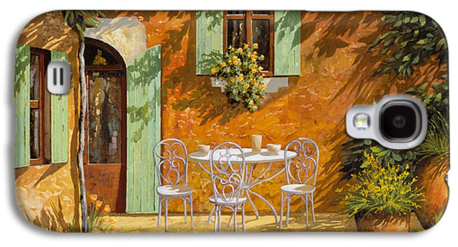 Quiete Galaxy S4 Case featuring the painting Sul Patio by Guido Borelli
