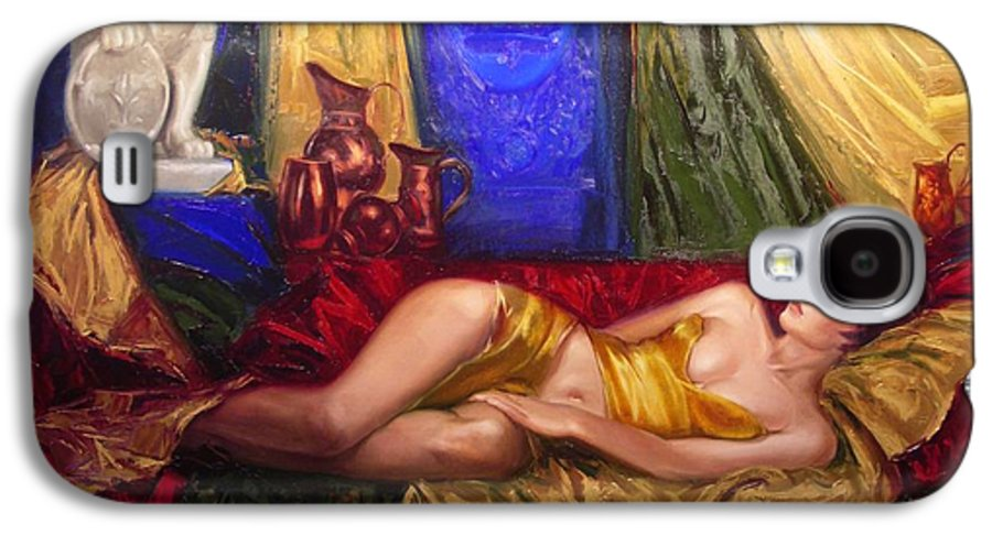 Art Galaxy S4 Case featuring the painting Sultan Spouse by Sergey Ignatenko