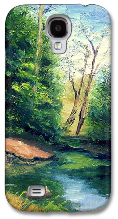Landscape Galaxy S4 Case featuring the painting Summer At Storm by Gail Kirtz