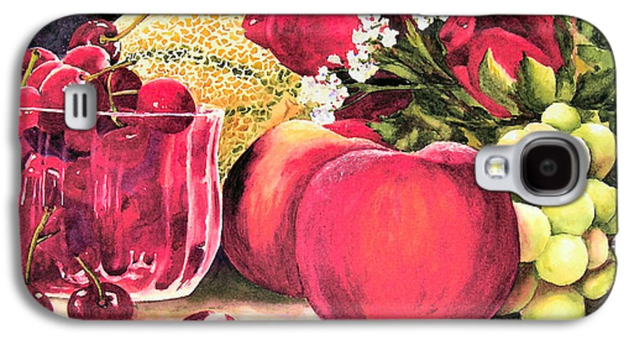 Cherries Galaxy S4 Case featuring the painting Summer Bounty by Karen Stark